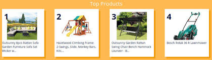 different category of products for decoration, garden and outdoor tools