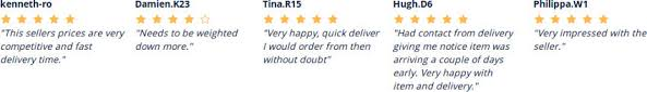 reviews and testimonial of customers after buying on manomano